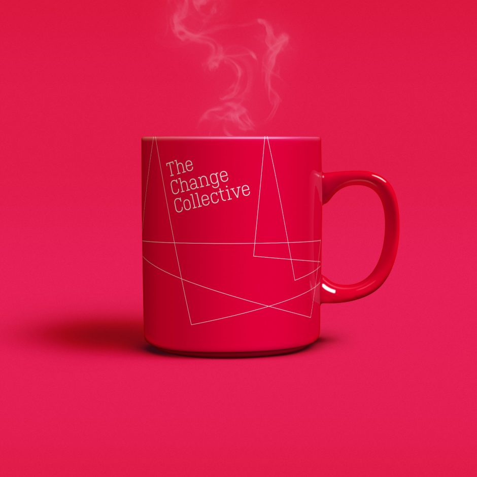 the change collective yellow branded mug