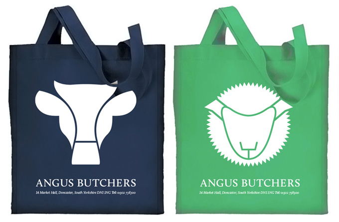 Angus Butchers carrier bags