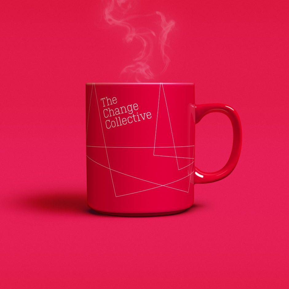 the change collective yellow branded mug