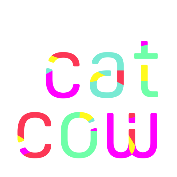 CatCow yoga  logo and branding